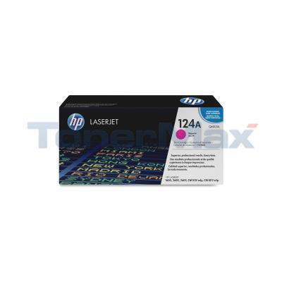 HP NO 124A CLJ-2600 PRINT CARTRIDGE MAGENTA